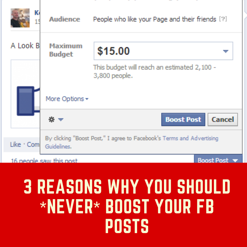 Never boost Facebook posts