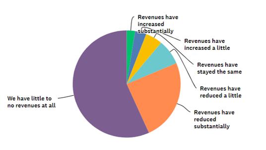 Revenue drop due to Covid 19