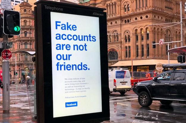Facebook advertising billboard